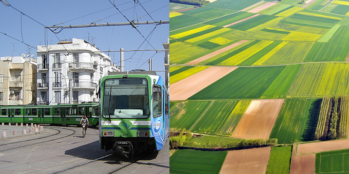 photo de Tramway et photo de champs
